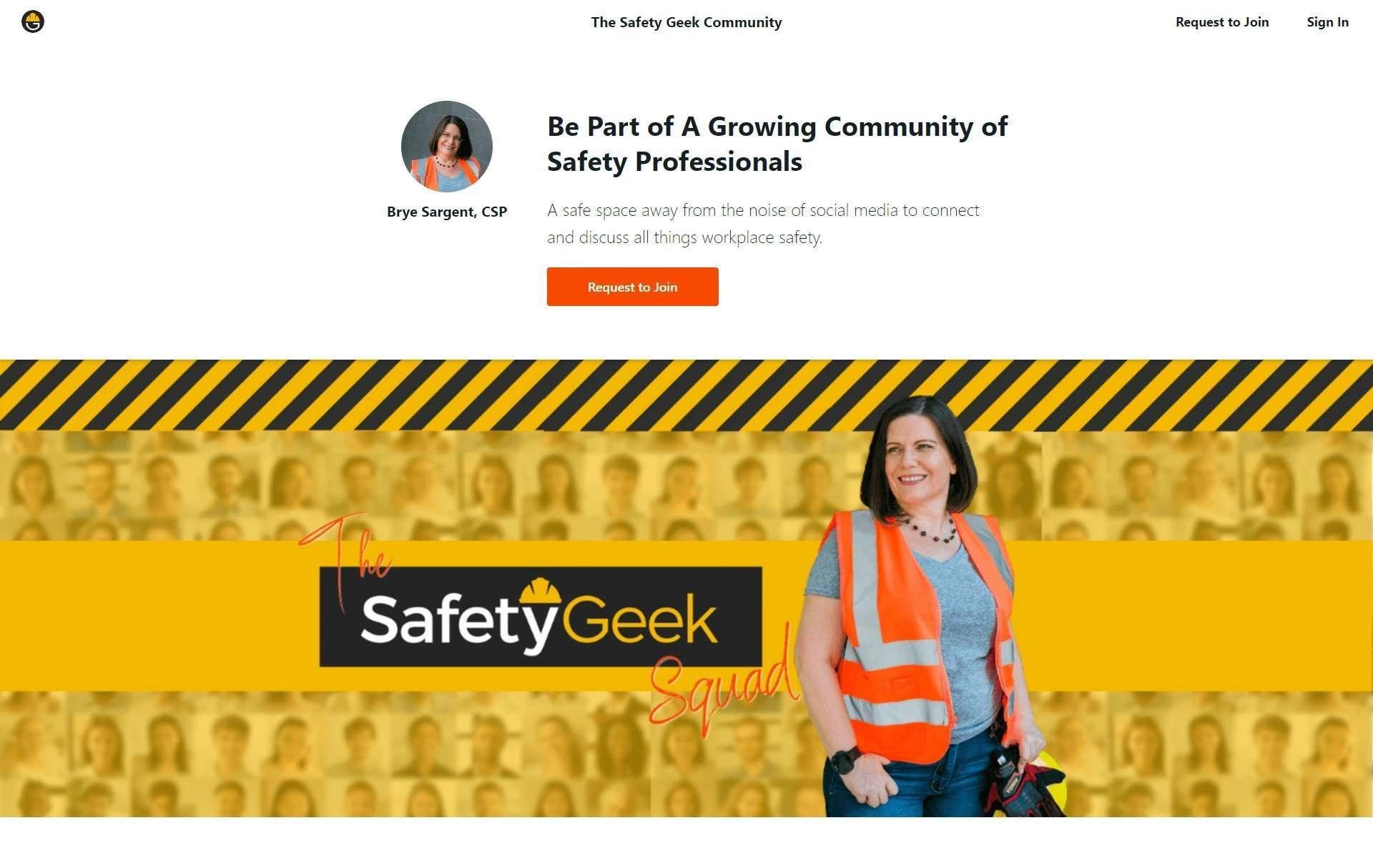 Safety Geek Squad Community Login